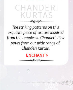 Lovely collection of Chanderi Kurtas. Buy Now!