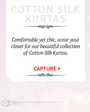 Lovely collection of Cotton Silk Kurtas. Buy Now!