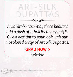 Pick your favorite from our lovely range of Art Silk Dupattas. Buy Now!