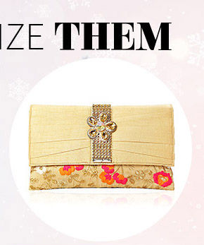 Choose from our lovely Collection of Art Silk Clutches. Buy Now!