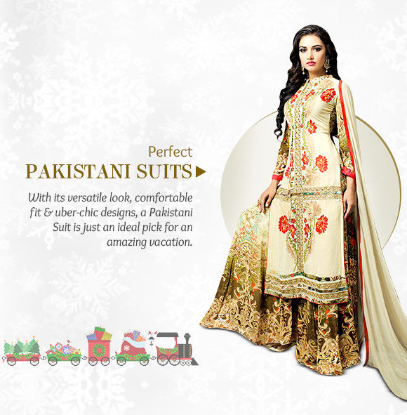 Choose from our lovely range of Pakistani Suits. Buy Now!