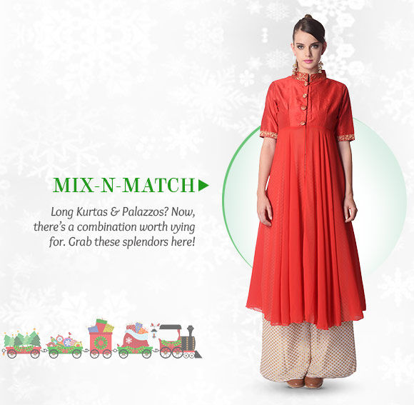 A myriad of Long Kurtas & Palazzos. Buy Now!