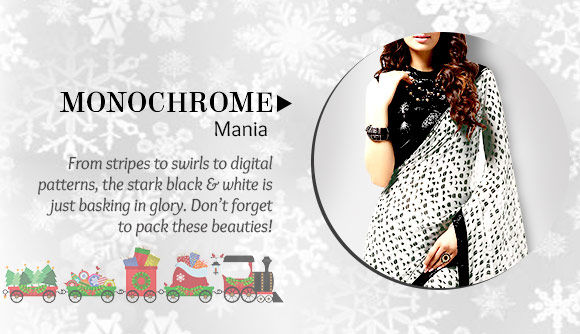 A lovely Collection of Attires in Monochrome. Buy Now!