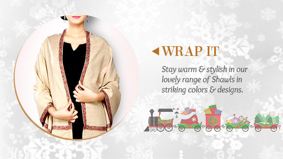Pick your favorite from our beautiful range of Shawls. Buy Now!