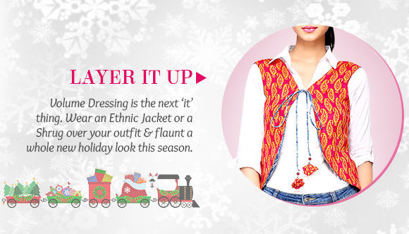 A gorgeous collection of Ethnic Jackets & Shrugs. Buy Now!