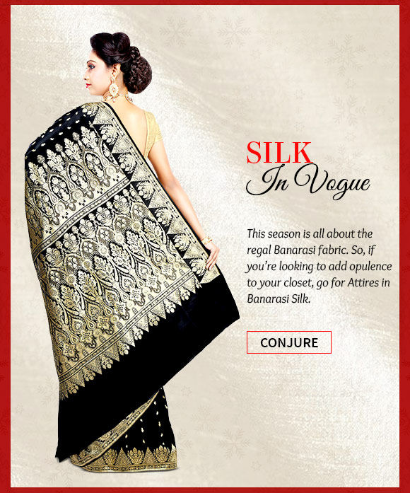 Pick your favorite from our wide range of Attires in Banarasi Silk. Buy Now!