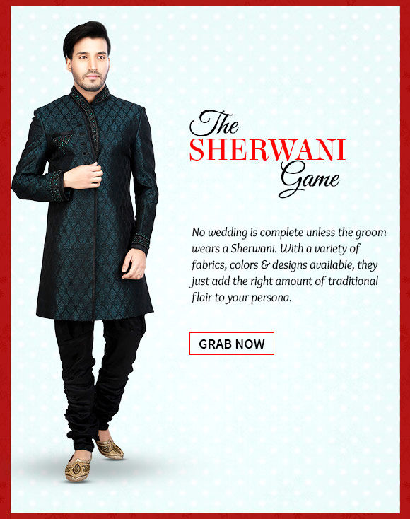 An inspiring range of Sherwanis. Buy Now!