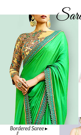 Pick your favorite from our stunning range of Bordered Sarees. Buy Now!