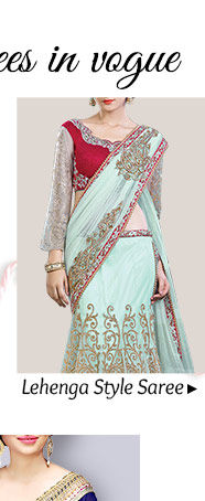 Gorgeous Lehenga Style Sarees in striking hues & designs. Buy Now!
