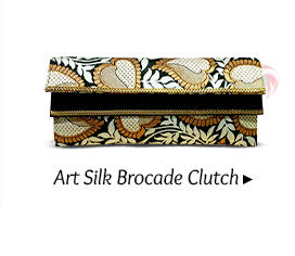 ART SILK BROCADE CLUTCH