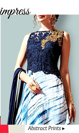 A myriad of gorgeous Salwar Kameez with Abstract prints. Buy Now!