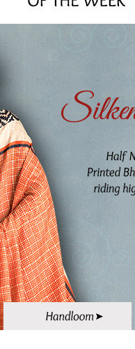 Pick your favorite from our lovely array of Handloom Silk Sarees. Buy Now!