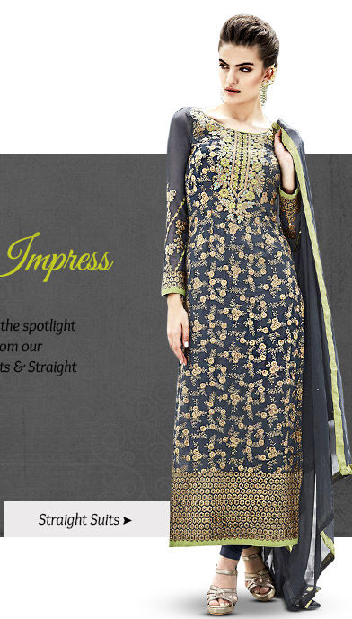 A beautiful array of Straight Suits in Chanderi fabric. Buy Now!