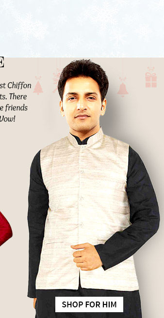 Kurta Churidar Sets, Plain Kurtas with Silk Jackets for male friends in $50-100. Shop!