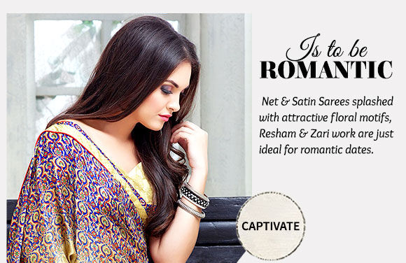 Pick your favorite from our stunning repertoire of Satin Sarees. Buy Now!