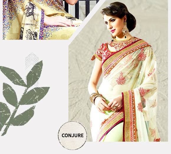 Pick your favorite from our stunning repertoire of Net Sarees. Buy Now!