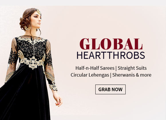 Bestseller Collection of Half-n-Half Sarees, Straight Suits, Circular Lehengas, Sherwanis & more. Shop!