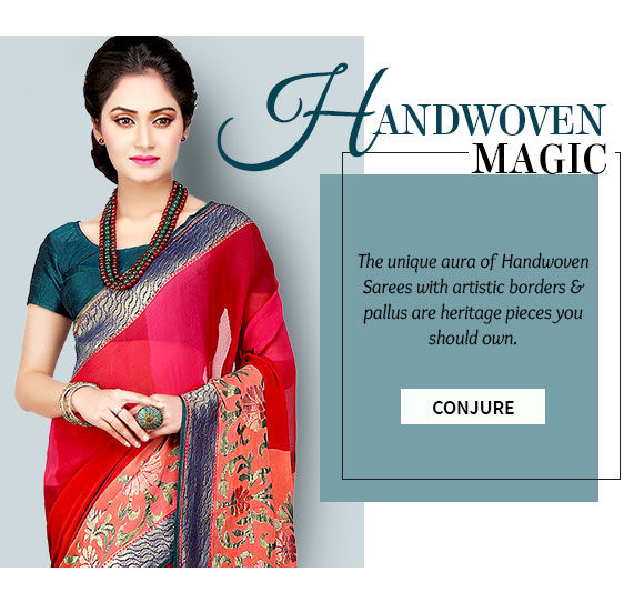 Handwoven sarees from different parts of India for you. Shop!