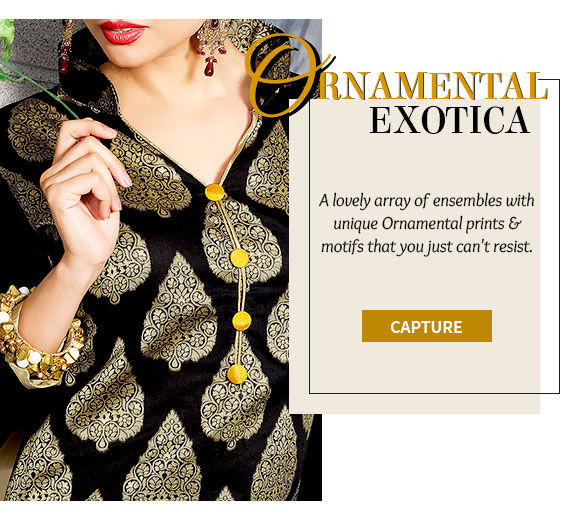 Womenswear with Ornamental Prints in myriad fabrics. Shop!