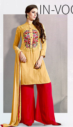 Choose from our wide range of Salwar Suits in Jacquard fabric. Buy Now!