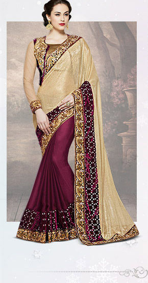 A lovely collection of Lycra Sarees. Buy Now!