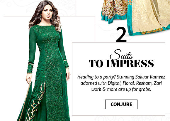 Pick your favorite from our beautiful range of Salwar Suits. Buy Now!