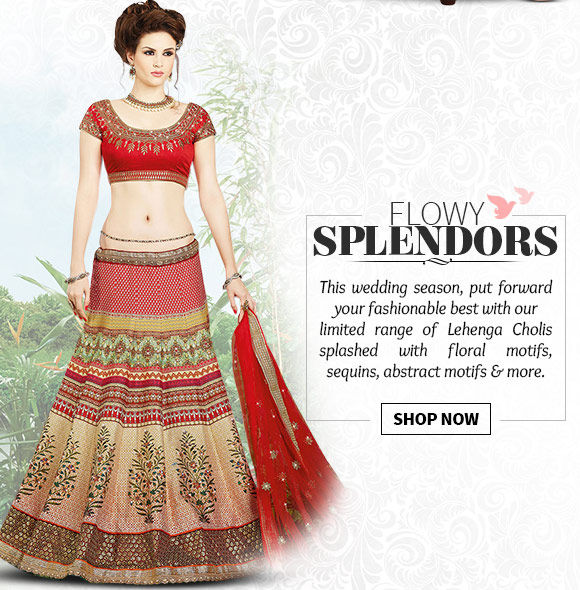 Select from our vast array of Lehenga Cholis in ultra-modern styles & hues. Buy Now!