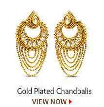 Gold Plated Chandbalis. Shop Now!