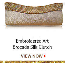 Embroidered Art Brocade Silk Clutch. Shop Now!