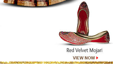 Red Velvet Mojari. Buy Now!