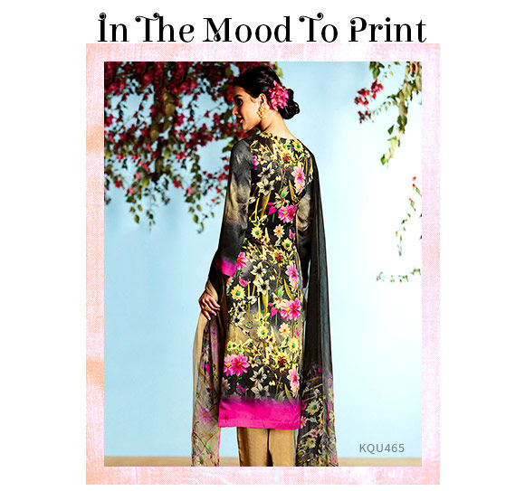 Casual Sarees, Suits and Indo Westerns in Digital Print. Shop!