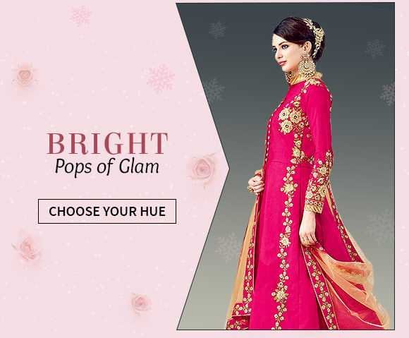 Wedding ensembles in Orange, Blue, Pink, Yellow and Green. Shop!