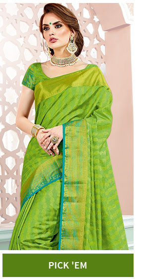 Art silk sarees in various colors and designs. Shop!