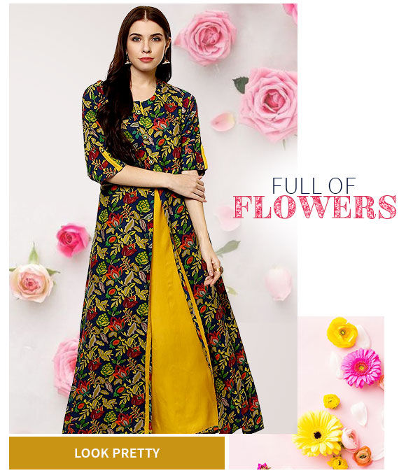 Ethnic Attires in floral print. Shop!